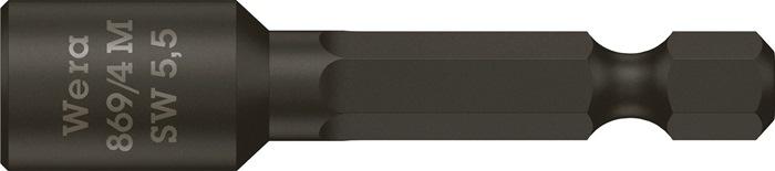 Steeks.b. 869/4 M SW13,0x50mm 1/4inch SW13mm d.19mm L50mm 6kt.dr. C6,3 p.magn.