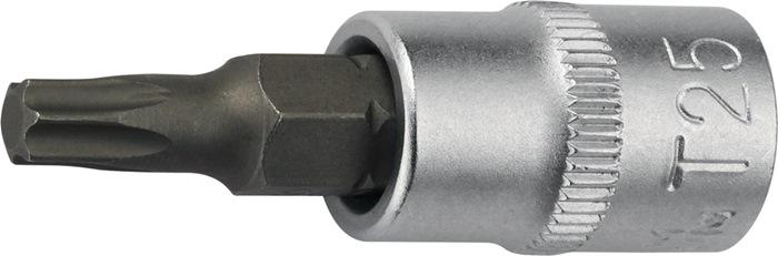 Steeksleutelbit 1/4inch TX10 totale lengte 32mm chroom-vanadiumstaal PROMAT