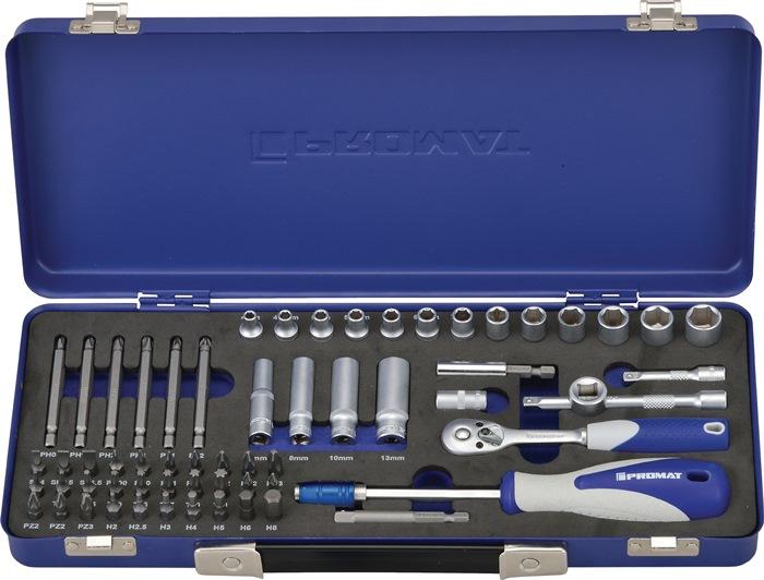 Steeksls S4000821191 1/4in. 61-dlg 4-13mm 6kt PH/PZD/TX 6kt/ratelsleutel 20in.