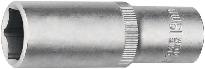 Lng. dpslt.schr.dr.DIN3120/ISO1174 1/2 inch 6kt. SW19mm tot.L77mm Cr.-V.-staal