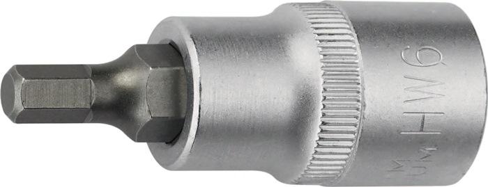 Steeksleutelbit DIN7422 1/2inch SW12mm v.inb.bouten tot.L55mm Cr.V./Cr.Ni.Mo.st.