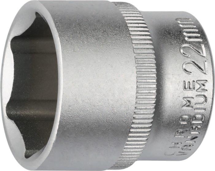 Steeksleutelbit DIN3124 3/8 inch 6kt. SW13mm tot.L30 chroom-vanadiumstaal PROMAT