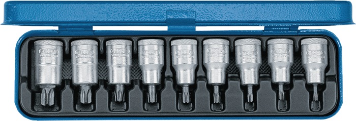 Set schroevendraaiers 1/2inch 9-delig T20-T60 v.TX-schroeven GEDORE