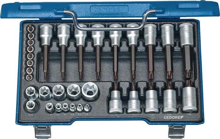 Steeksls 1/2inch 34-dlg TX8-60 E4-24 chr-vanad/speciaal staal chr-vanad