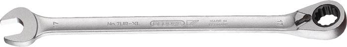 Ring-ratelsleutel 24mm, extra lang, verstel. ringzijde 13 graden gebogen L 432m