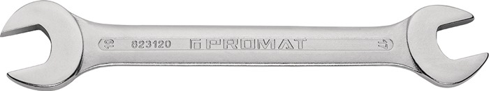 Dubbele steeksleutel DIN3110 SW13x17mm, tot. L205mm chroom-vanadiumstaal PROMAT
