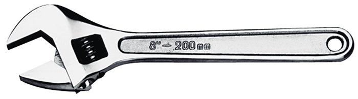 Verstelbare moersleutel l.375mm spanw.46mm kop gepol.