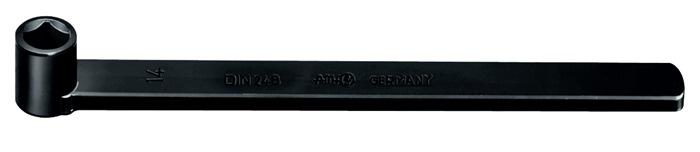 4-kt. stksl. DIN251 248-14 1-armig m.bi.4kt. gh. mt. 14mm spc.st.gbrn. d.tmp.