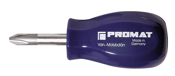 Schroevendraaier P827661 PZD 1x25mm tot.L75mm ronde schacht kunststof handgreep