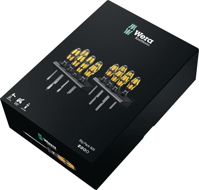 Set schroevendraaiers 900 15-dlg. doorlpd. schacht 6kt. aanz.st. sl.kp wndh.