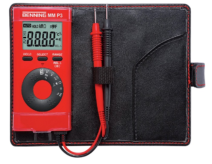 Multimetermm P3 0,1 mV-600 V DC 0,1 mV-600 V ACmm P3 m.batt./meetleid./etui