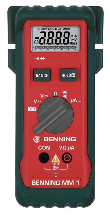 Multimeter mm 1 0,1 mV-600 V DC 1 mV-600V DC m.batt./meetleidingen/tas