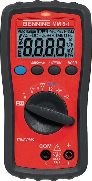 Multimeter MM 5-1 0,0001-600 V AC/DC spanning-/doorgangstester BENNING
