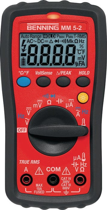Multimeter 044071mm 5-2 0,0001-600 V AC/DC 0,001-10 A wisselstroommm 5-2