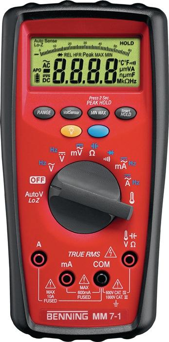 Multimeter MM 7-1 0,01 mV-1000VDC 0,01mV-1000V AC MM 7-1 bat./meetl./tas