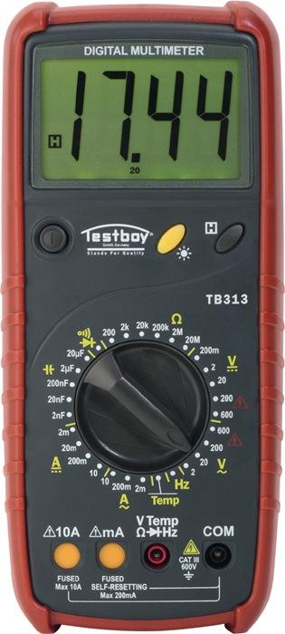 Multimeter Testboy 313 dig. t. 600 V doorgangstest t. 10 A diodetest Testboy