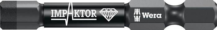 Bit840/1 IMP DC DIN3126-D6,5 Impaktor 6-kant 6 l.25mm zesk.1/4in diamantgec.WERA