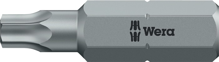 Bit 867/1in TX 10x25mm TORX 10 l.25mm 1/4in zeskant bitdrive C6,3 v. binnen WERA