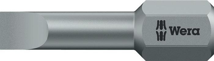 Bit 800/1 TZ 0,5x4,0x25mm 4x0,5mm l.25mm 1/4in. 6kt.taaih.C6,3 v.sleuf torsiev.