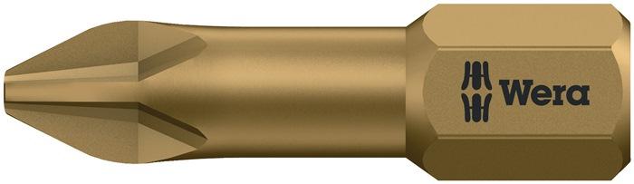 Bit851/1 TH PH 3x25mm PH maat 3 l.25mm 1/4in zesk.e.hard drive C6,3 torsiev.WERA