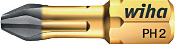 Bit 6KT PH 3 x 25 mm drive C6,3 standaardbit hardmetaal gecoat