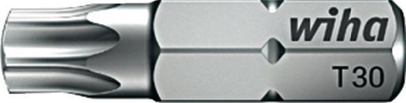 Bit DIN3126/ISO1173 zeskant TX 40x25mm drive C6,3 standaardbit v.binnen WIHA