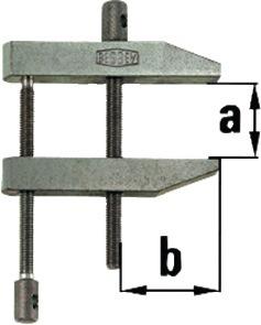 Parallelschroefklem PA spanw. 40mm, vlucht 27mm dubbele spindelgeleiding Bessey