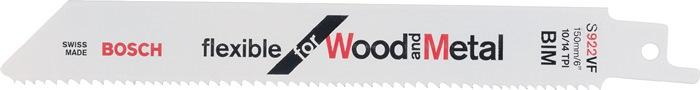Schrobzaagblad l175mm bi tandd. 1,8mm voor buizen alu/koper variovertand BOSCH