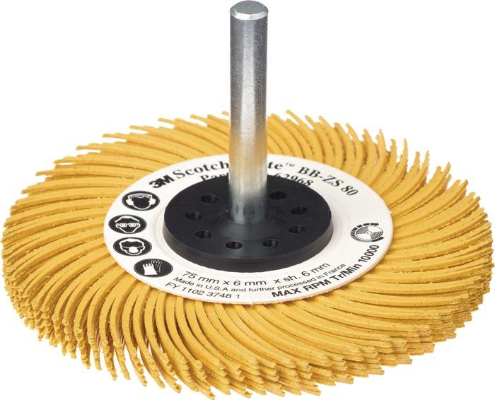 Radiaalborstelschijf Bristle Brush korr.120 d.75mm z.spanschacht v.pijpreiniging