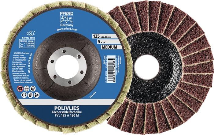 Lamellenschijf Polivlies NK-A fijn d.115mm v.roest-+zuurbest st bor.22,23mm