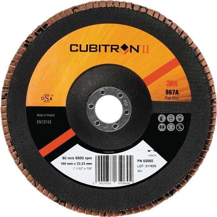 Lamellenschijf Cubitron II 967A d.125mmx22mm korr.40 plat 3M
