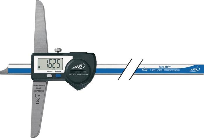 Digit. diep.sch.mt. DIN862 DIGI-MET 300mm rechte meetrail m.geg.uitlez. PREISSER