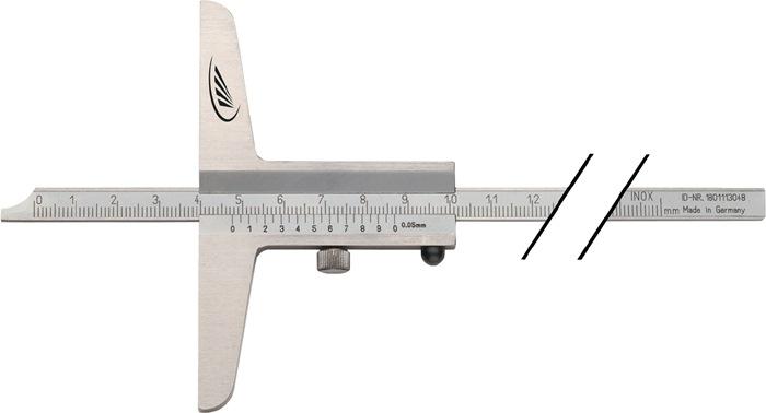 Diepteschuifmaat DIN862 500mm rechte meetrail brug-l.150mm PREISSER