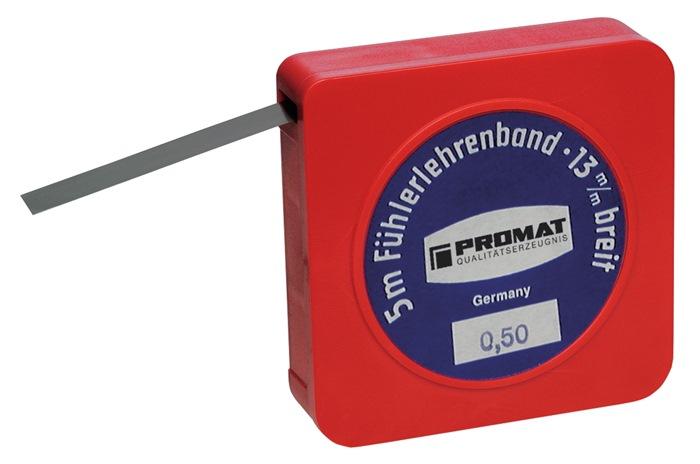 Voelermaatband Dikte 0,05 mm Lengte 5 m Breedte 13 mm PROMAT