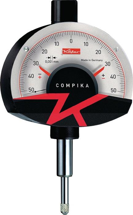 Meetklok Compika 1001 0,1mm aflezing 0,001mm m. stootbescherming Käfer