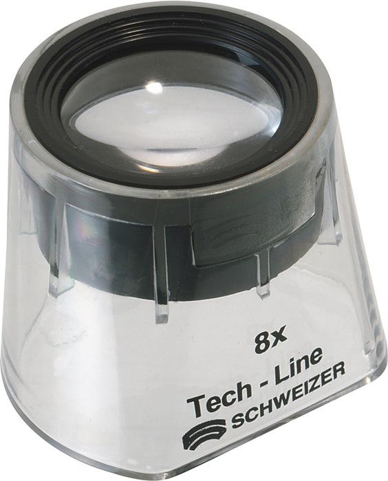 Staande loep Tech-Line vergroting 8x Focus Vario lenzen-d.22,8mm SCHWEIZER