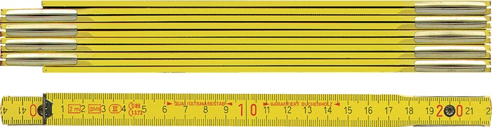Houten duimstok Duimstok 2m geel BMI