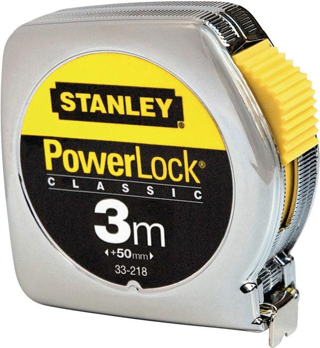 Rlb.mt Powerlock L.5m bandb.19mm geel nauwk. II ku.beh. st.knop/riemcl.