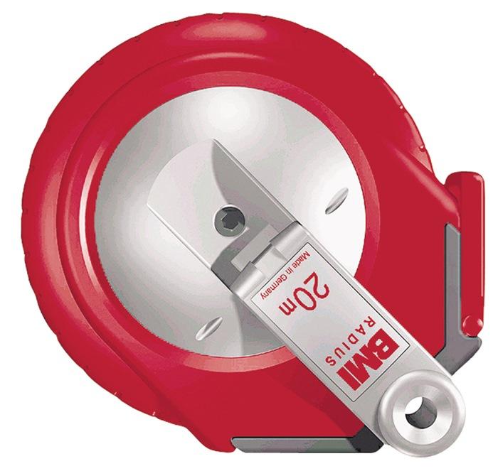Rolmaat radius L.30m B.13mm geel ku.-band nauwk.h.II ku.-behuizing BMI