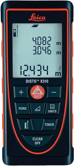 Laser-afstandsmeter DISTO X310 nauwk. 1,0mm laserklasse 2 m.batterijen Leica