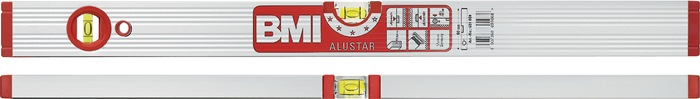 Waterpas ALUSTAR 691 L.180cm alu 1 horizontale en 1 verticale libel BMI