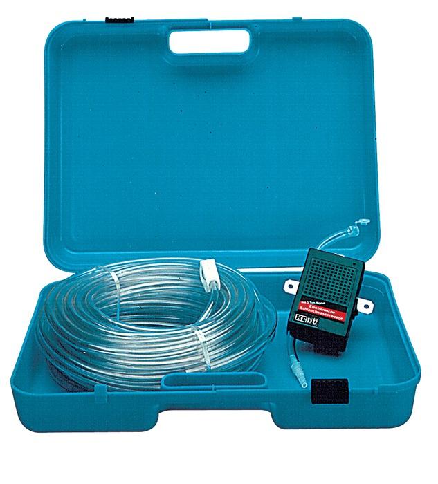 Slangwaterpas L.20m slang-d.8mm wanddikte 1,2 mm elektronisch i.ku. koffer HEDUE