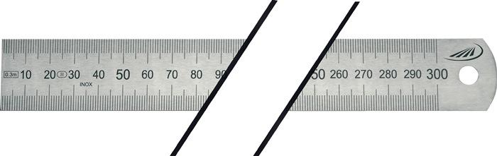 Stalen lineaal L.300mm buigbaar Verdeling A = mm/mm HELIOS PREISSER