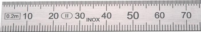 Stalen lineaal L.300mm buigbaar Verdeling B=mm/1/2mm PREISSER