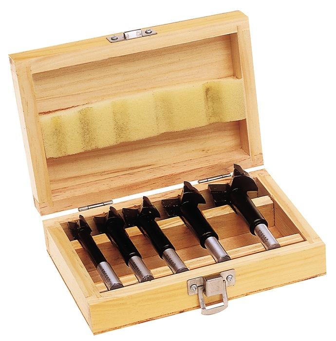 Kunstboorset 5dlg. i.houten cassette PROMAT