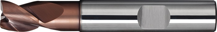 Schachtfrees DIN 6527 K d.10mm VHM TiAIN 3 sneden kort PROMAT