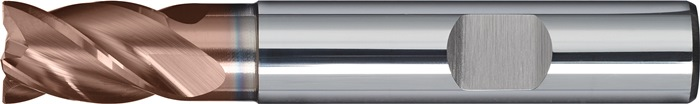 Schachtfrees DIN6527 K d.6mm VHM TiAIN 4 sneden kort PROMAT
