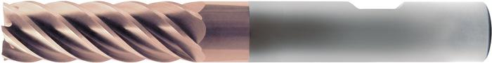 Schachtfrees fabrieksnorm d.8mm VHM TiAIN 6 sneden extra lang PROMAT
