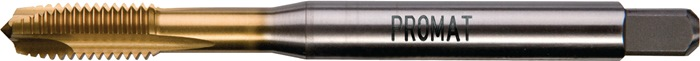 Machinetap DIN371 vorm B M3 HSS-Co TiN ISO2 (6H) PROMAT