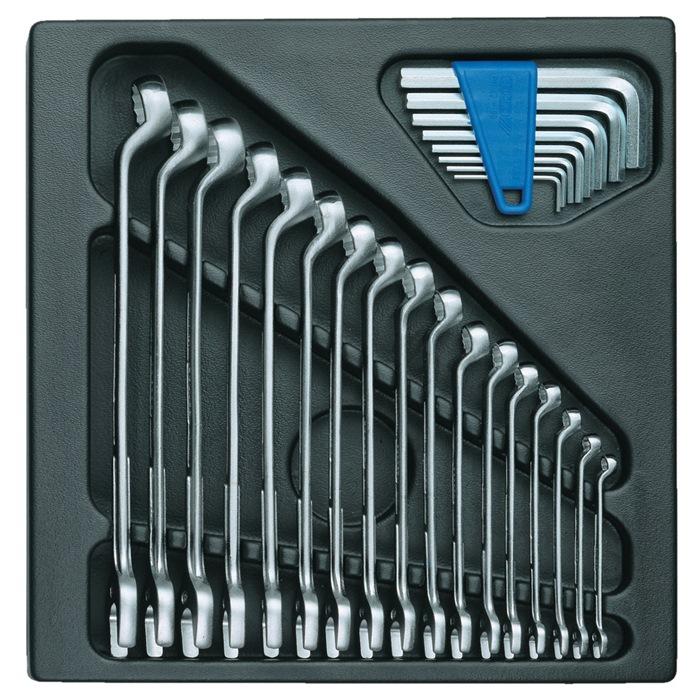 Gereedschapsmodule Ï315xB.310mm 25-dlg. ringsteeksleutel-/stiftsleutelset v.ABS